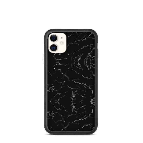 Miljøvenligt iPhone 11 cover i Sort Marble