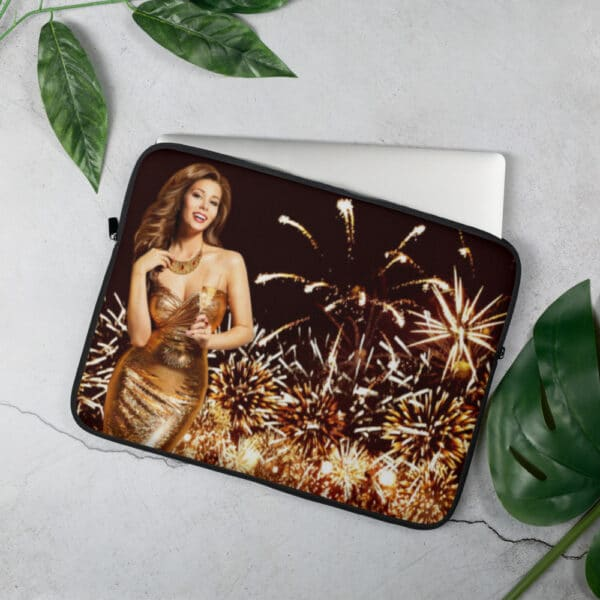 Laptop Sleeve Golden New Year 15 tommer